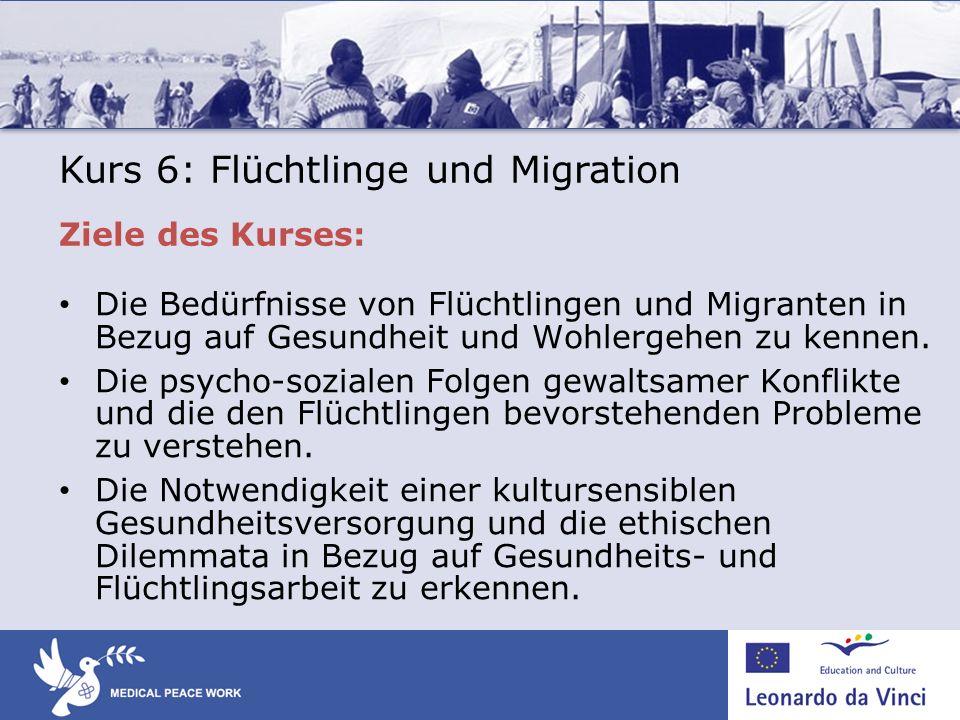 Kurs 6: Flüchtlinge und Migration