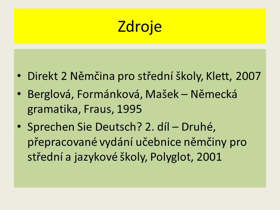 Zdroje Direkt 2 Němčina pro střední školy, Klett, 2007