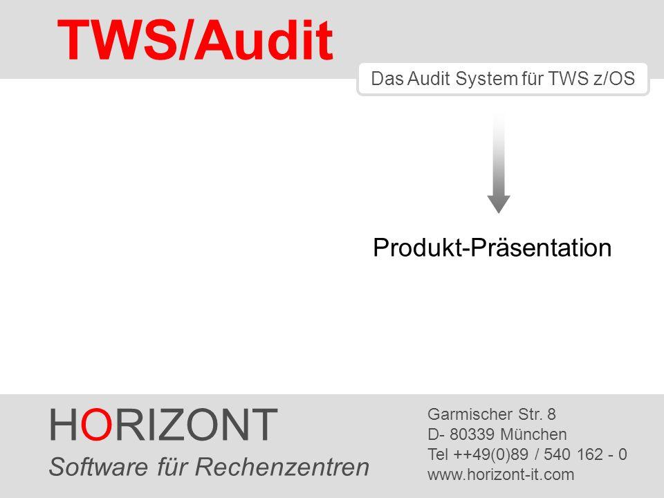 TWS/Audit HORIZONT Produkt-Präsentation Software für Rechenzentren