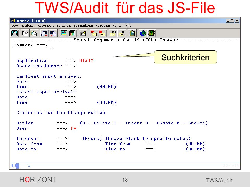 TWS/Audit für das JS-File