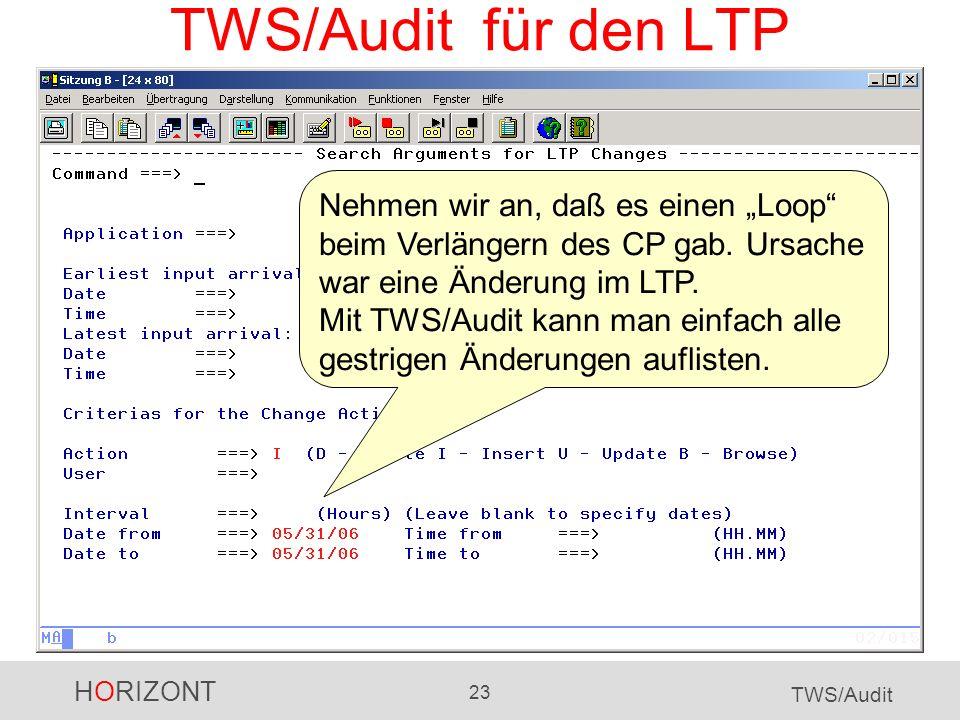 TWS/Audit für den LTP