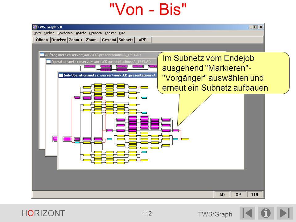 Von - Bis Im Subnetz vom Endejob ausgehend Markieren - Vorgänger auswählen und erneut ein Subnetz aufbauen.