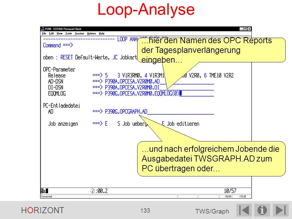 Loop-Analyse ...hier den Namen des OPC Reports der Tagesplanverlängerung eingeben...