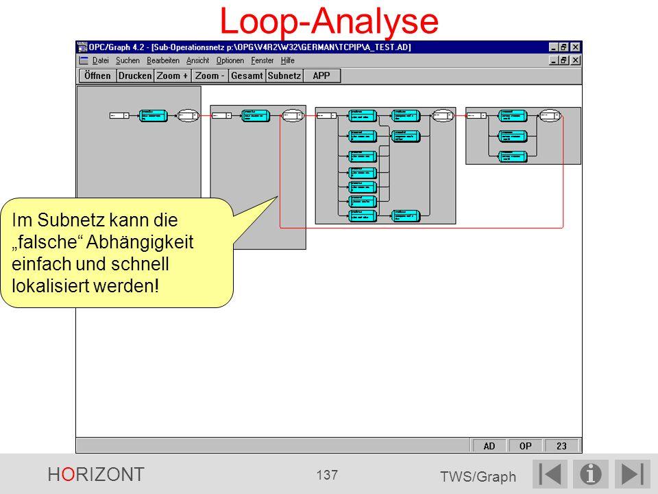 """Loop-Analyse Im Subnetz kann die """"falsche Abhängigkeit einfach und schnell lokalisiert werden! HORIZONT."""