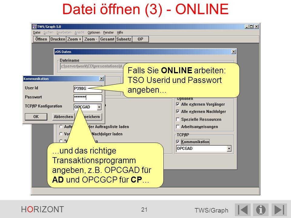 Datei öffnen (3) - ONLINE