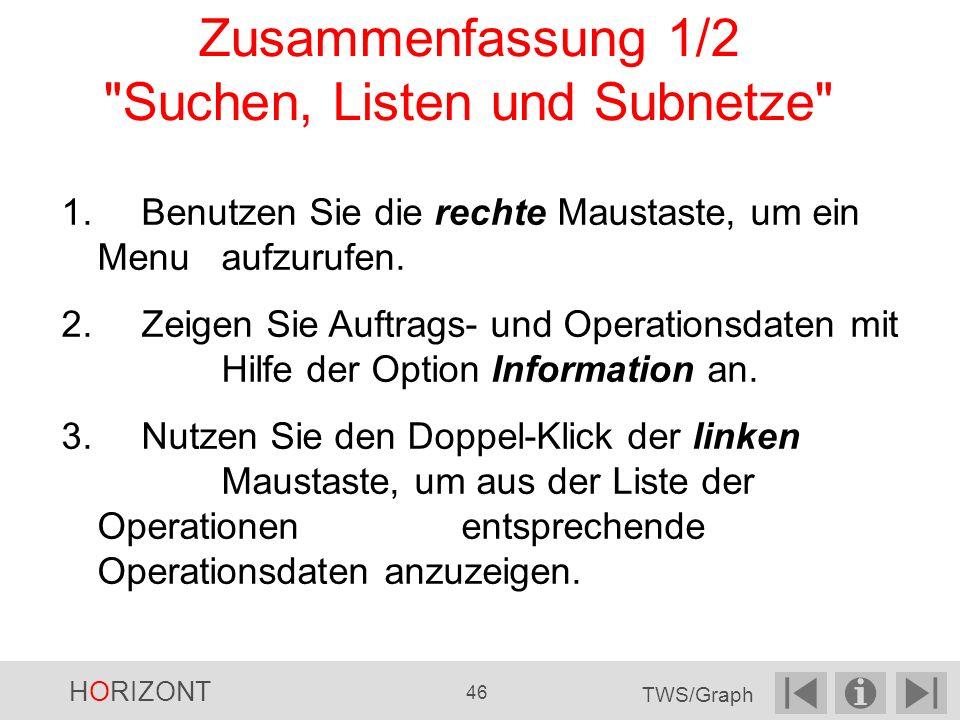 Zusammenfassung 1/2 Suchen, Listen und Subnetze