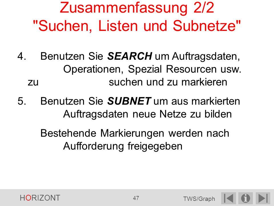 Zusammenfassung 2/2 Suchen, Listen und Subnetze
