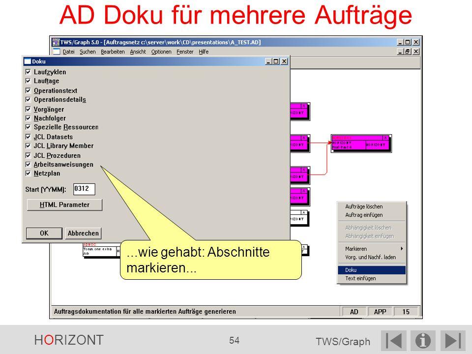 AD Doku für mehrere Aufträge