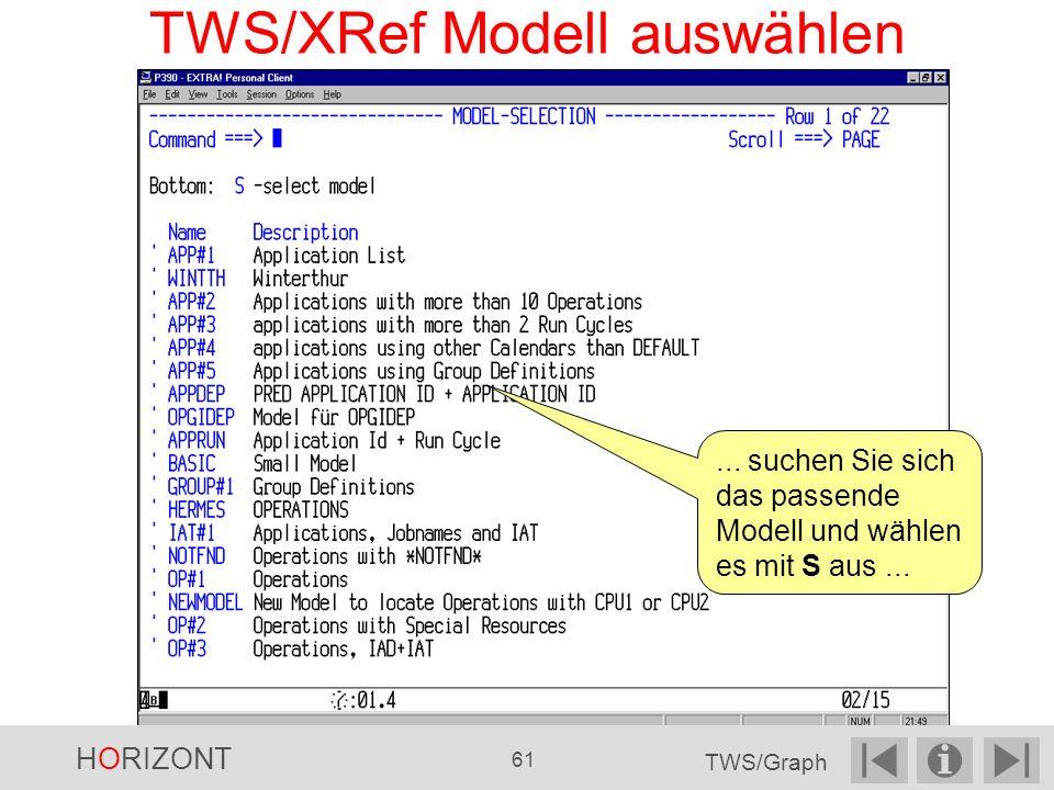 TWS/XRef Modell auswählen