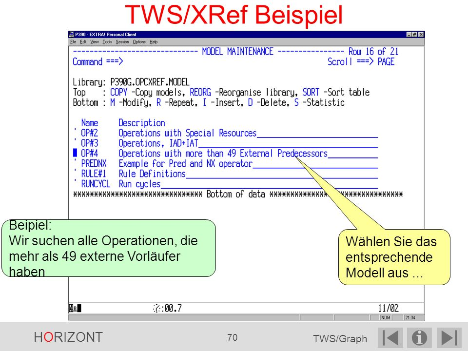 TWS/XRef Beispiel Beipiel: