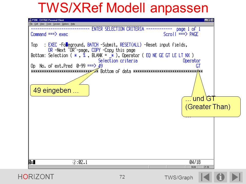 TWS/XRef Modell anpassen
