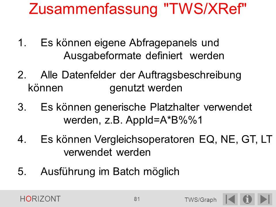 Zusammenfassung TWS/XRef