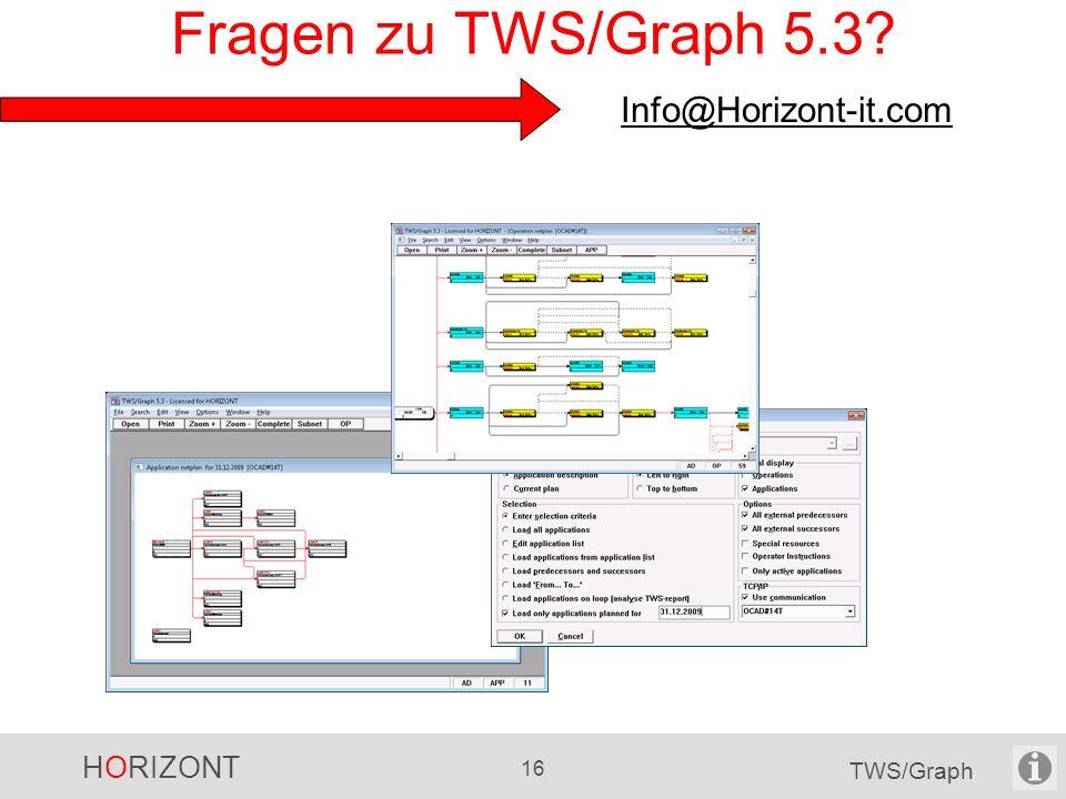 Fragen zu TWS/Graph 5.3 Info@Horizont-it.com
