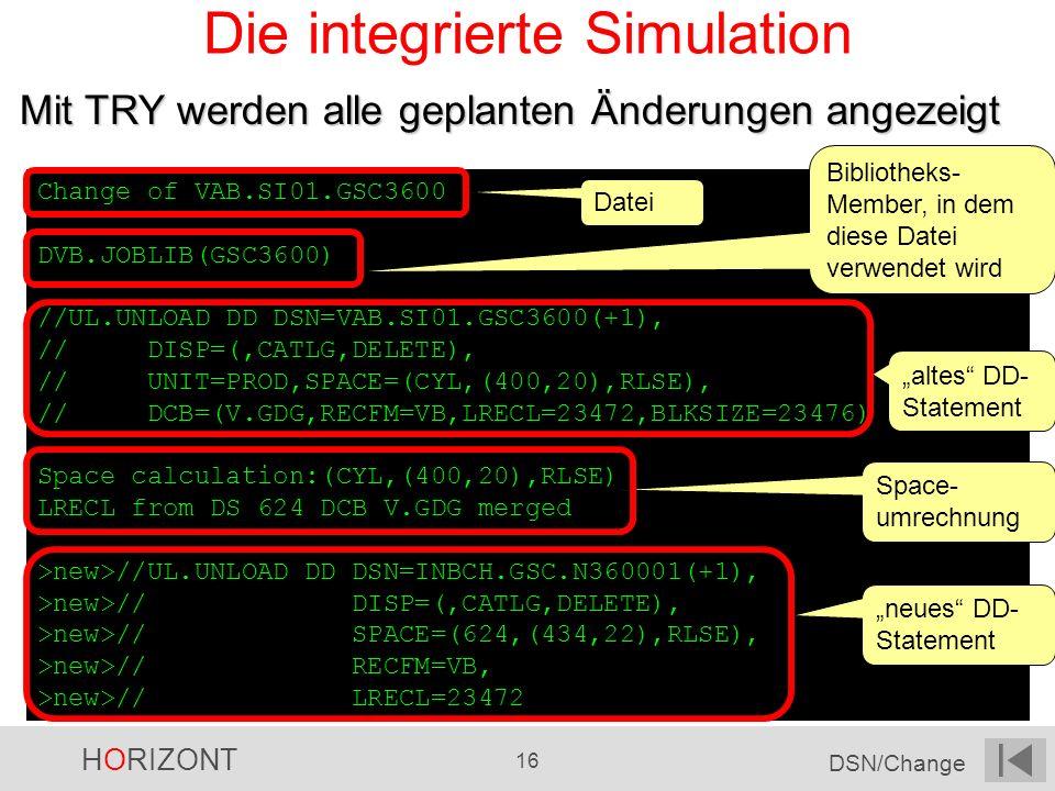 Die integrierte Simulation