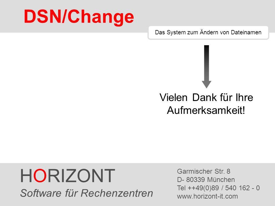 DSN/Change HORIZONT Vielen Dank für Ihre Aufmerksamkeit!