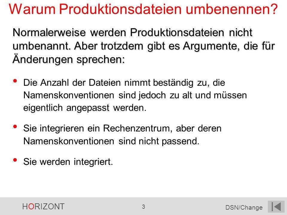 Warum Produktionsdateien umbenennen