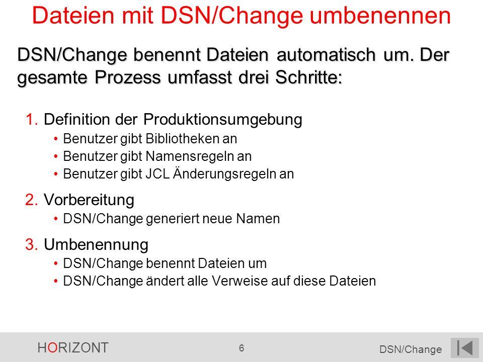 Dateien mit DSN/Change umbenennen