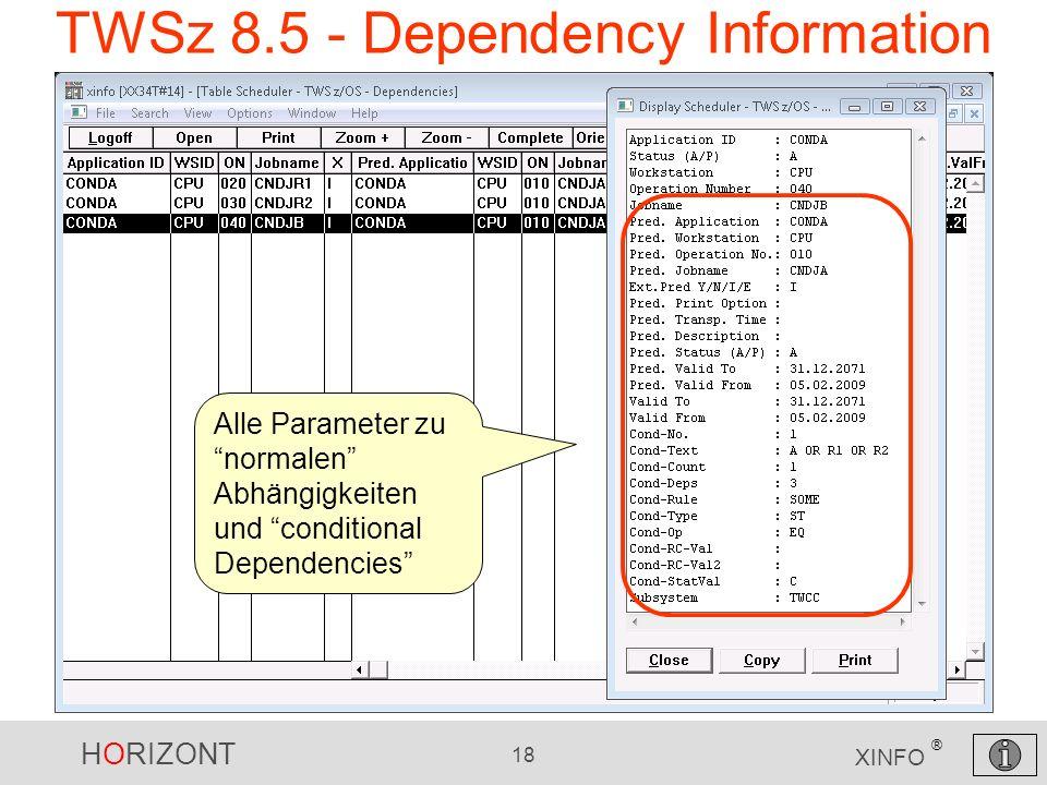 TWSz 8.5 - Dependency Information
