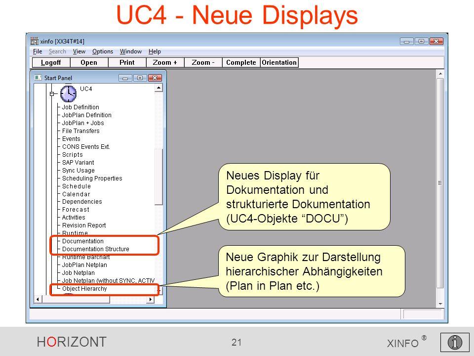 UC4 - Neue Displays Neues Display für Dokumentation und strukturierte Dokumentation (UC4-Objekte DOCU )