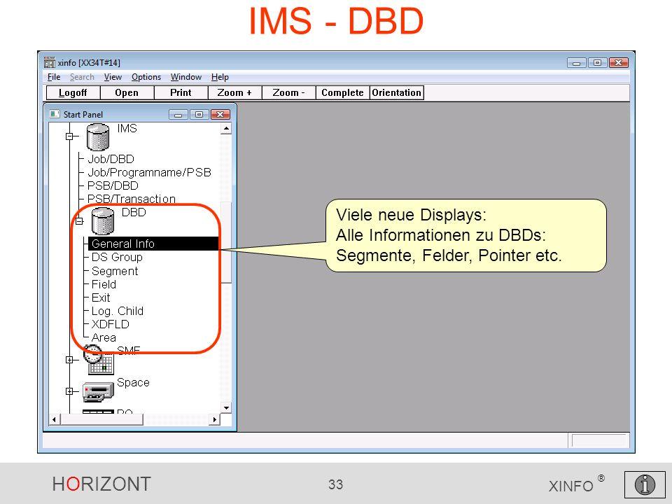 IMS - DBD Viele neue Displays: