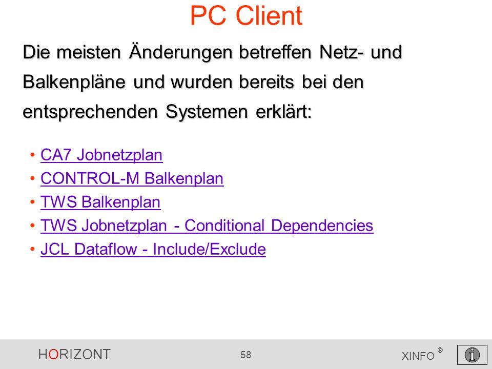 PC Client Die meisten Änderungen betreffen Netz- und Balkenpläne und wurden bereits bei den entsprechenden Systemen erklärt: