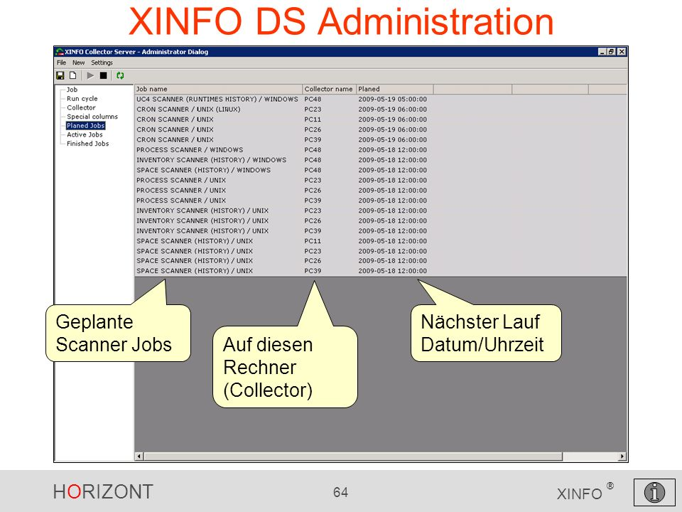 XINFO DS Administration