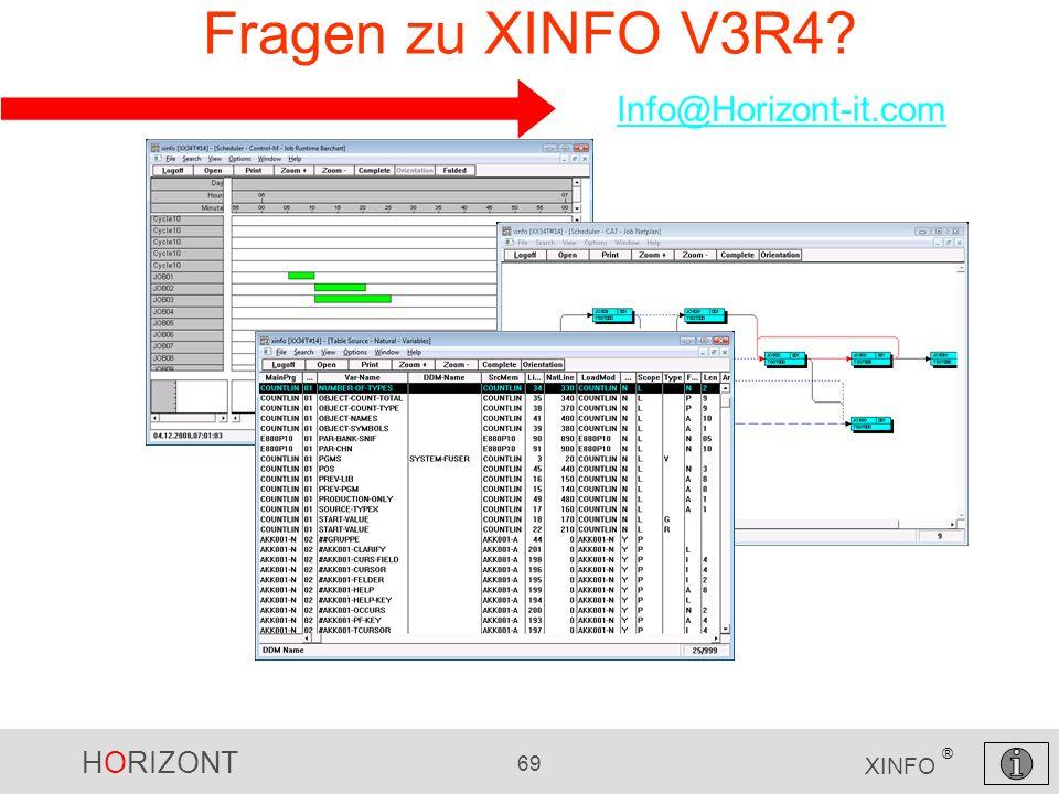Fragen zu XINFO V3R4 Info@Horizont-it.com