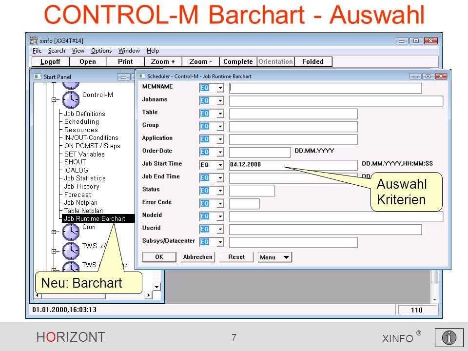 CONTROL-M Barchart - Auswahl