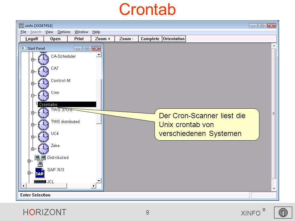 Crontab Der Cron-Scanner liest die Unix crontab von verschiedenen Systemen