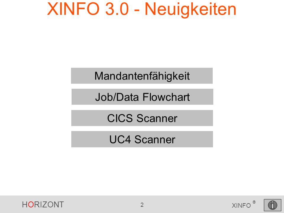 XINFO 3.0 - Neuigkeiten Mandantenfähigkeit Job/Data Flowchart