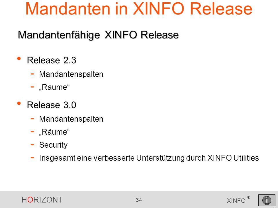 Mandanten in XINFO Release