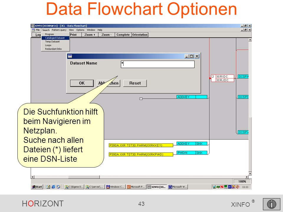 Data Flowchart Optionen