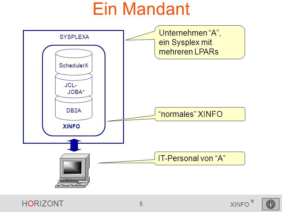 Ein Mandant Unternehmen A , ein Sysplex mit mehreren LPARs