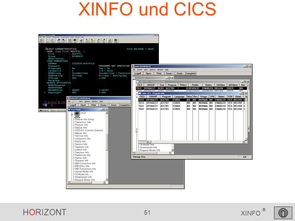 XINFO und CICS