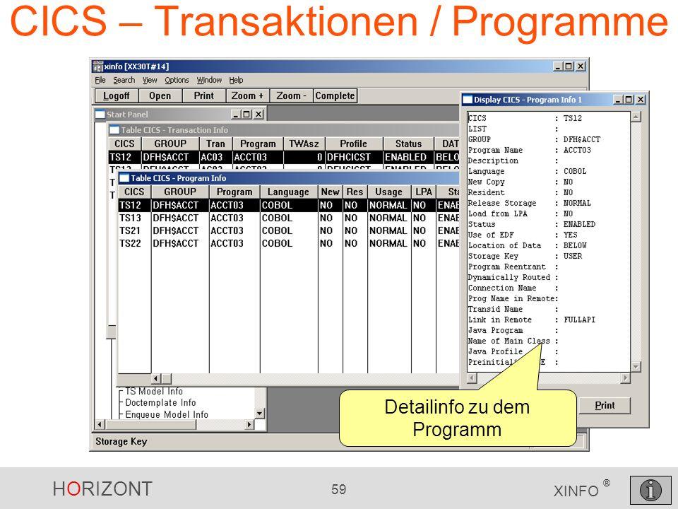 CICS – Transaktionen / Programme