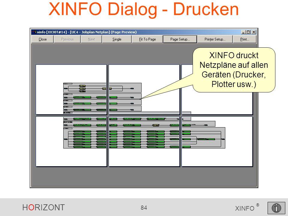 XINFO druckt Netzpläne auf allen Geräten (Drucker, Plotter usw.)