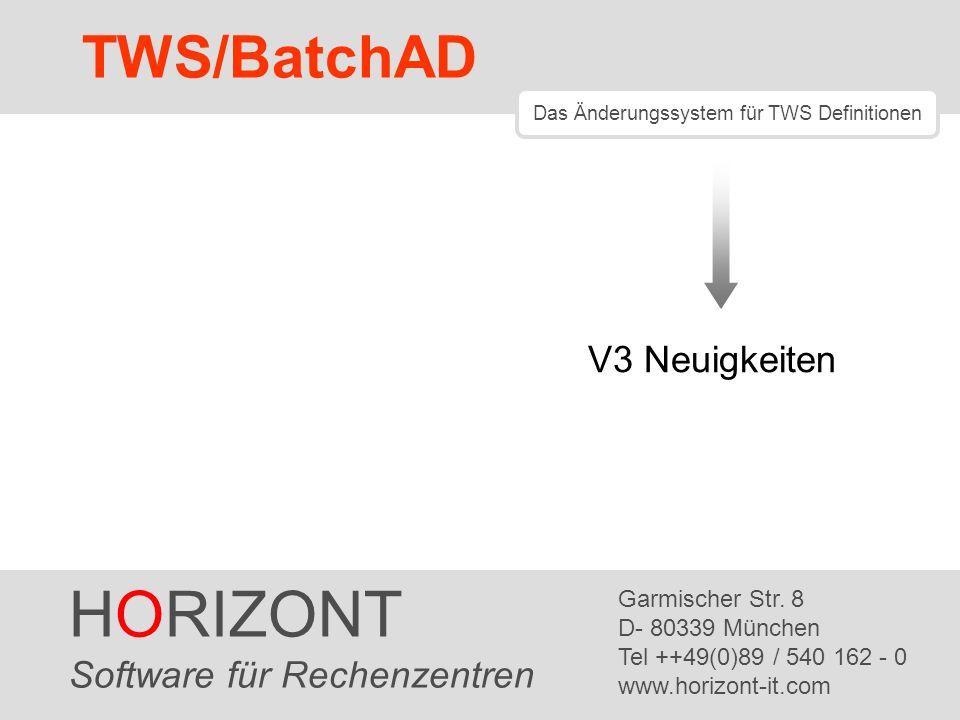 Das Änderungssystem für TWS Definitionen