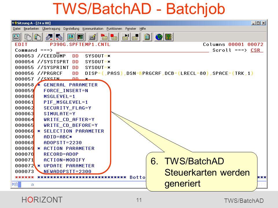 TWS/BatchAD - Batchjob