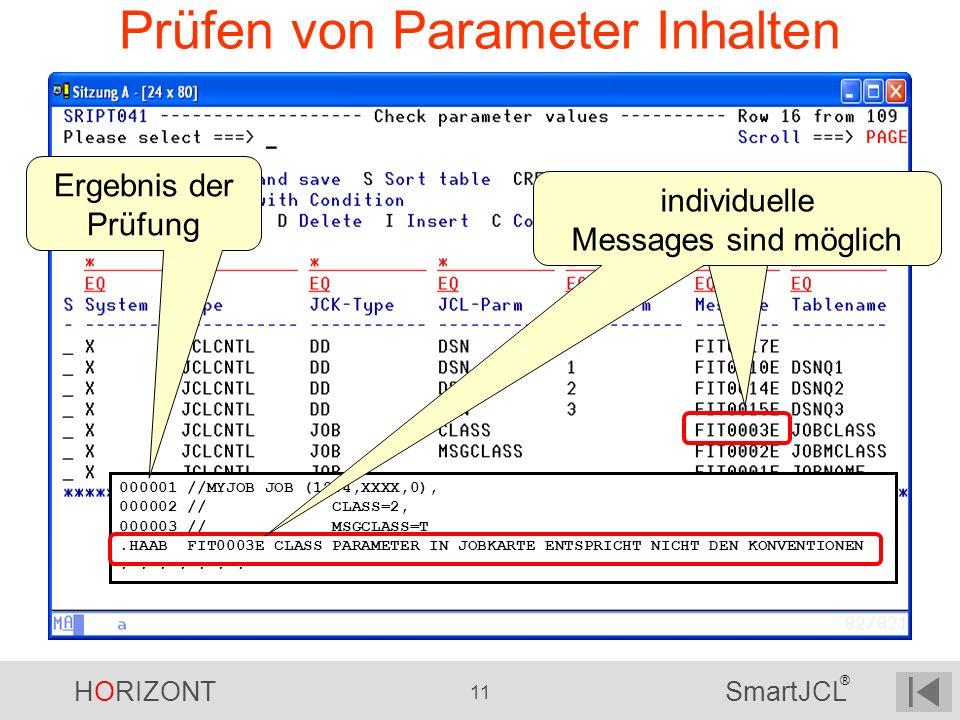 Prüfen von Parameter Inhalten