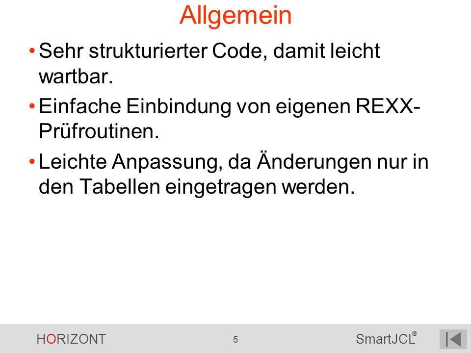 Allgemein Sehr strukturierter Code, damit leicht wartbar.