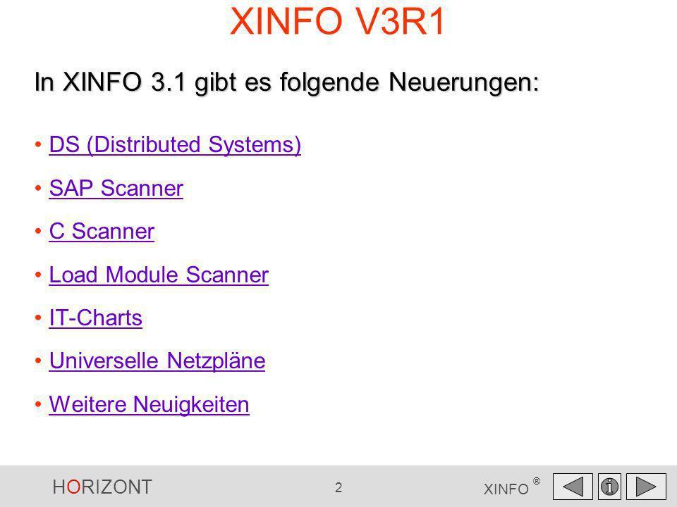 XINFO V3R1 In XINFO 3.1 gibt es folgende Neuerungen: