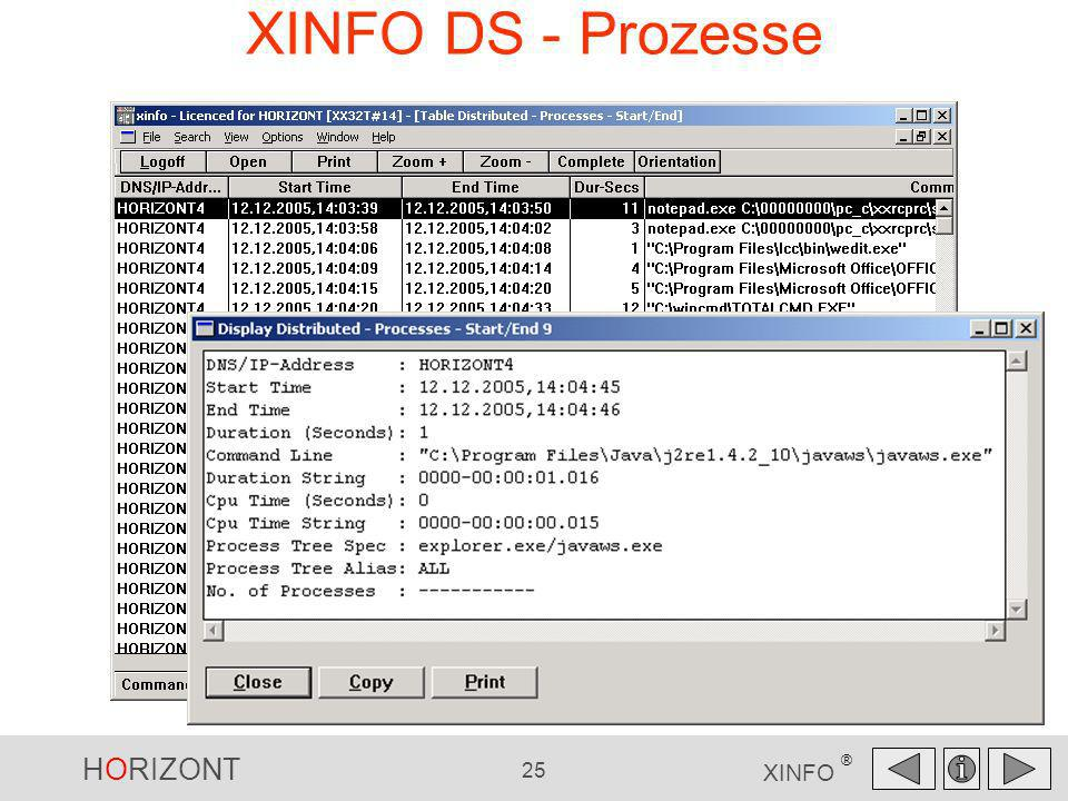 XINFO DS - Prozesse