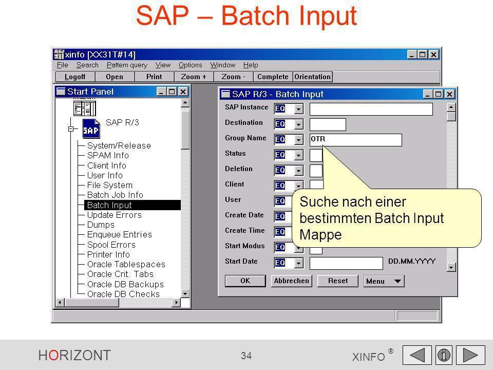 SAP – Batch Input Suche nach einer bestimmten Batch Input Mappe
