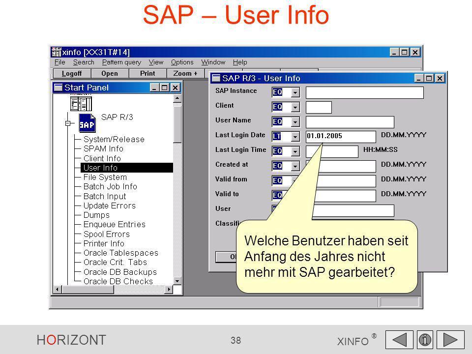 SAP – User Info Welche Benutzer haben seit Anfang des Jahres nicht mehr mit SAP gearbeitet