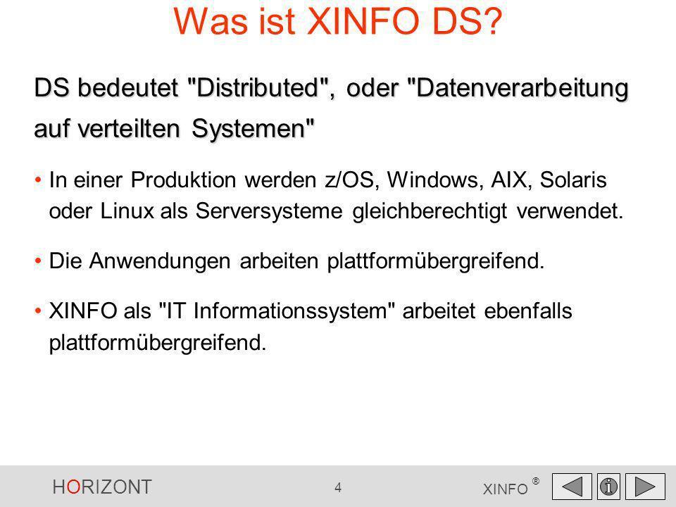 Was ist XINFO DS DS bedeutet Distributed , oder Datenverarbeitung auf verteilten Systemen