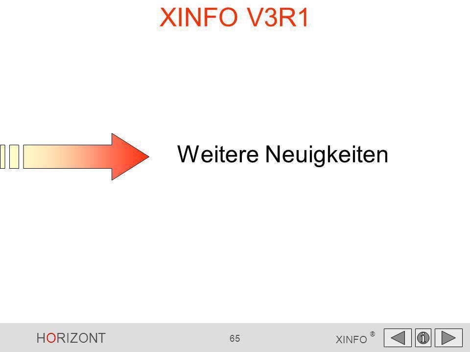 XINFO V3R1 Weitere Neuigkeiten