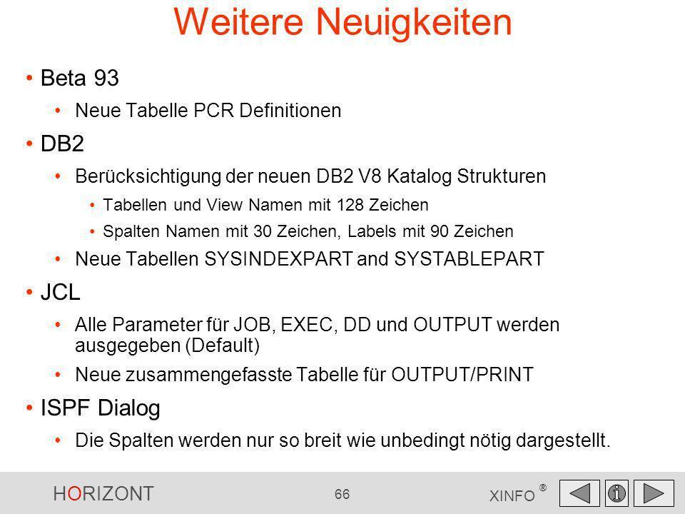 Weitere Neuigkeiten Beta 93 DB2 JCL ISPF Dialog