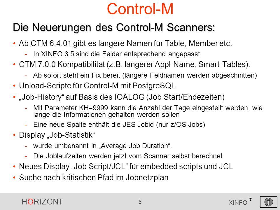 Control-M Die Neuerungen des Control-M Scanners: