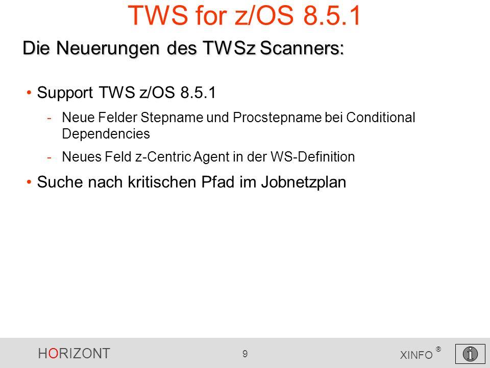 TWS for z/OS 8.5.1 Die Neuerungen des TWSz Scanners: