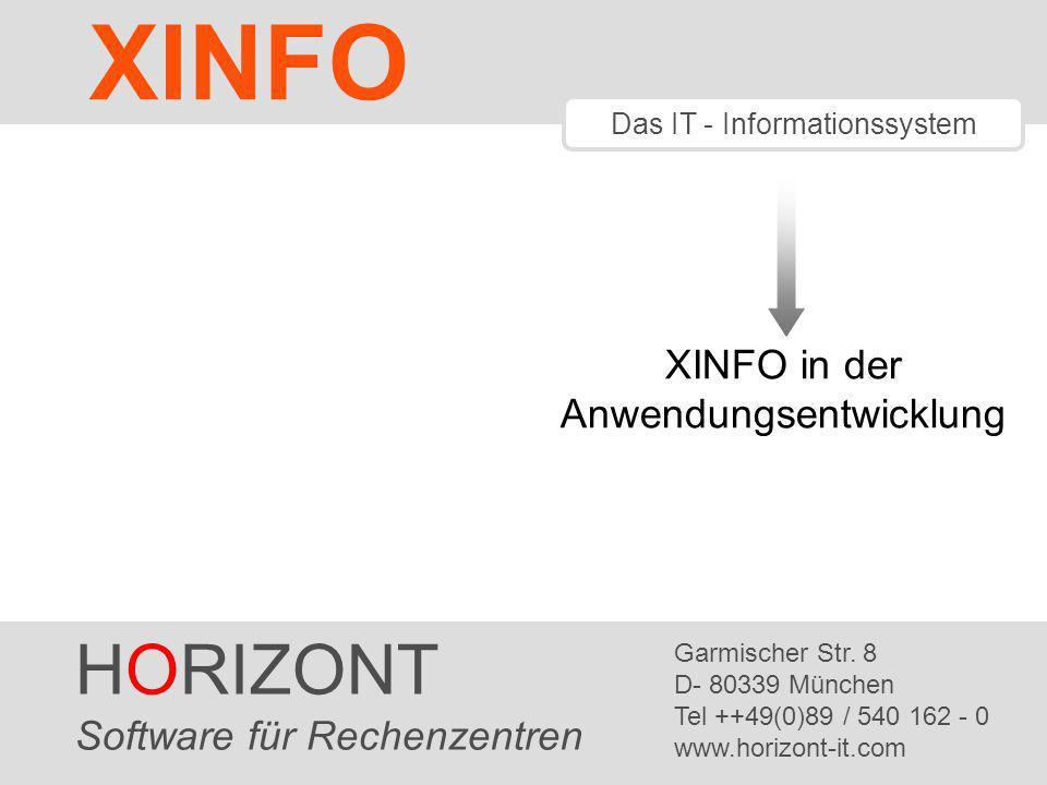 XINFO HORIZONT XINFO in der Anwendungsentwicklung